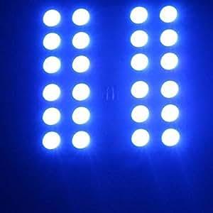 21 COLORS, BRIGHTNESS CONTROL, ON/OFF, FLASH, FADE, STROBE RGB RGB 24 SMD