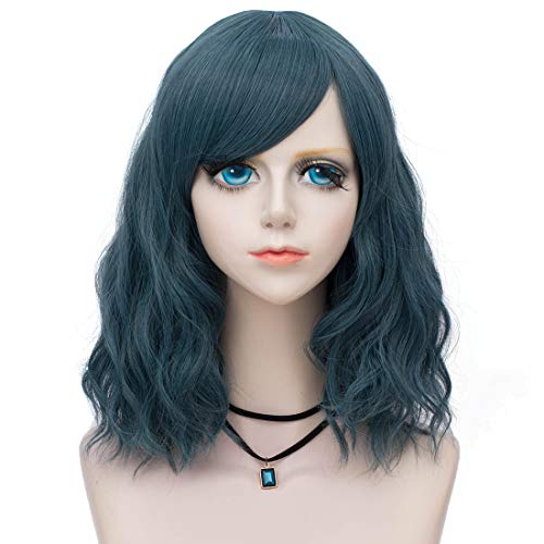 Probeauty Sweety Collection Lolita 40CM Short Curly Women Lolita Anime Cosplay Wig + Wig Cap (Pastel Green F2)]()