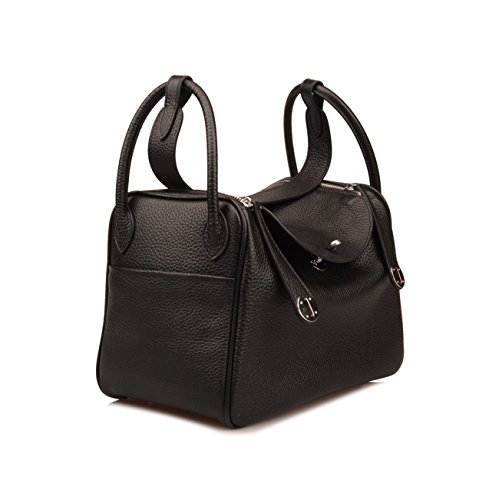 Ainifeel Purse Shoulder Bag Everyday Black Hobo Leather Genuine Women's raq70r