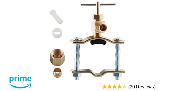 Use a repair clamp to fix a small copper pipe leak one project