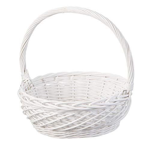 Darice Willow Easter Basket: White, 13.5 x 13.75 inches