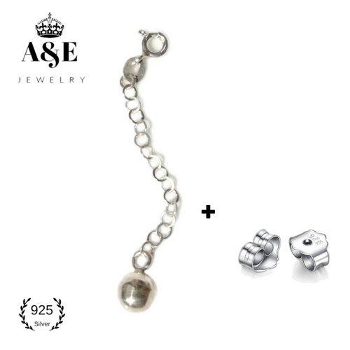 Shaking Ball Extender Necklace Extender Bracelet Extender Extender Chain Earrings Backing Gift Shaking Ball (Silver Ball Toggle Bracelet)