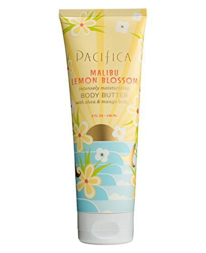 Pacifica Malibu Lemon Blossom Body Butter (Pack of 2) with Shea Butter, Jojoba Seed Oil, Cocoa Butter, Flax Seed Oil, Kukui Nut Oil and Vitamin E, 100% Vegan and Cruelty-Free, 8 oz