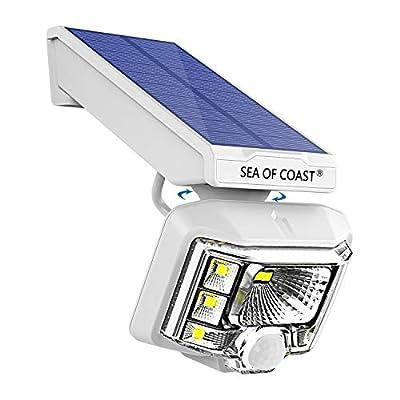 Outdoor Wireless Solar Lights, Intelligent dynami Sensor, 8 LED Lighting Super Bright Motion Sensor Light, Wall Solar Light Outdoor Security Lighting - IP65 Waterproof Solar Light for Patio (1pack)