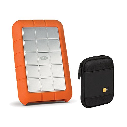 LaCie 1TB Rugged Triple Hard Drive, USB 3.0 & Firewire 800 (STEU1000400) Bundle by LaCie