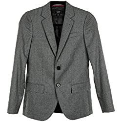 J Crew Women's Ludlow Blazer In Itaian Wool Flannel Sz 00 04497 Gray Suiting