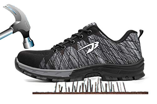 Scarpe Scarpe da di Comodissime Calzature in Aizeroth antinfortunistiche Grigio escursionismo S3 Sneaker Punta Donna Sicurezza Uomo Stival con Lavoro per Traspiranti Industria UK Acciaio da Edilizia cantiere 1wqqzX0I