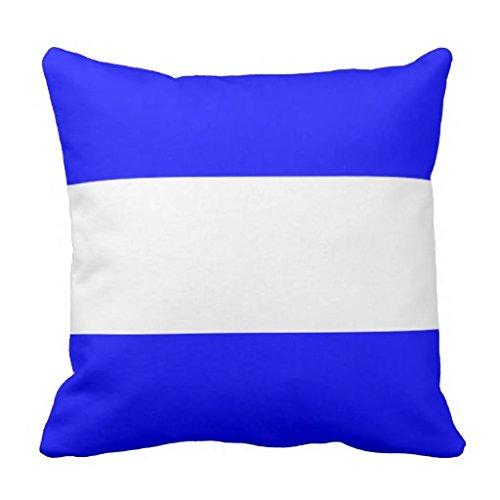 Nautical Flag Signal Letter J Throw pillow case 16*16 (Nautical Flag Pillows)