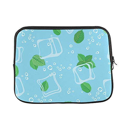 Design Custom Mint Leaves Green Summer Cool Sleeve Soft Laptop Case Bag Pouch Skin for Air 11