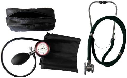 Blutdruckmessgerät 1-Schlauch Oberarm + Rappaport Doppelschlauch Stethoskop schwarz Doppelkopf Tiga-Med Qualität