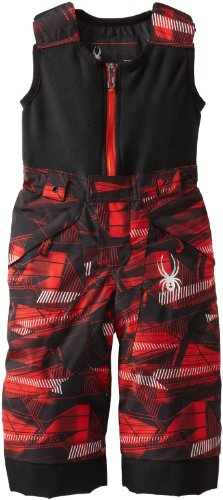 Spyder Boy's Mini Expedition Bib Pant, Red Step Case/Red Step Case, 4