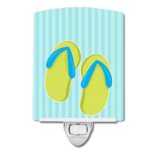 Flip Flop Night Light (Caroline's Treasures Beach Ceramic Night Light, Flip Flops, Blue, 6