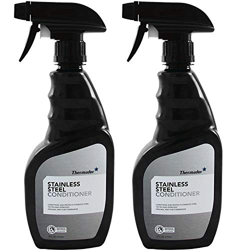 Thermador 00576697 Stainless Steel Conditioner Spray Bottle 2-Pack