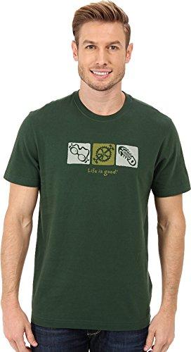 Life is good Men's Crusher Elemental Tri T-Shirt (Woodsy Green), Medium