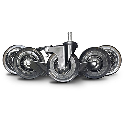 Office Chair Wheels With Brake Steel Casters Rollerblade