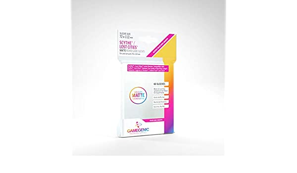 GAMEGEN!C- Matte Scythe/Lost Cities Sleeves 72x112mm (60), Color Clear (GGS10058ML): Amazon.es: Juguetes y juegos