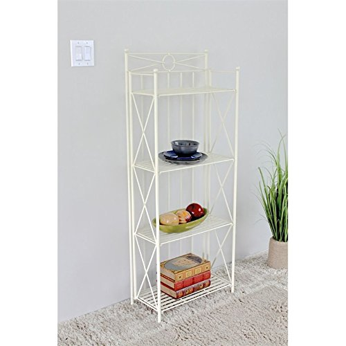 International Caravan Camden 4 Tier Bakers Rack in White by International Caravan