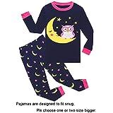 Owl Little Girls Long Sleeve Pajamas 100% Cotton Pjs Size 6