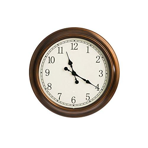 Cape Craftsmen Copper Circle Outdoor Safe Metal Wall Clock
