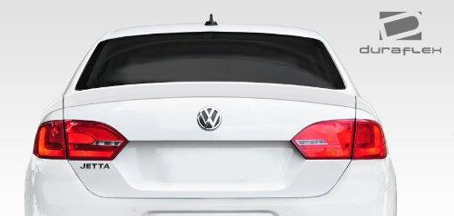 Duraflex ED-OST-983 R Look Rear Wing Trunk Lid Spoiler - 3 Piece Body Kit - Compatible For Volkswagen Jetta 2011-2014 ()