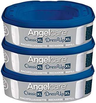 Pack de 8 cartuchos de recambio para cubo de basura Angelcare XL Classic XL Angelcare