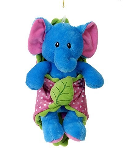 - Fiesta Toys Turquoise Elephant Blanket Babies