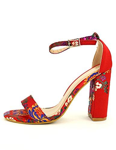 Rouge Vine Femme Day Floral Cendriyon Chaussures Sandale qwBP5xx0