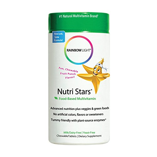 Rainbow Light - Nutristars® Chewable Multivitamin - Supports Nutrition, Immunity, Energy, and Digestion in Kids - 120 - Vitamins Nutri Chewable