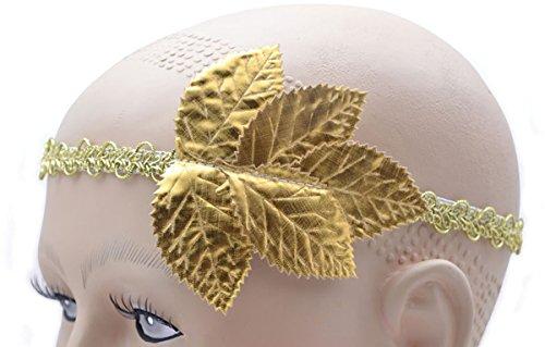 (Adult Fancy Dress Party Accessory Roman Pompeii Caesar Ladies Gold Leaf Headband )