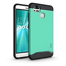 TUDIA ZenFone 3 Zoom Case, Slim-Fit HEAVY DUTY [MERGE] EXTREME Protection / Rugged but Slim Dual Layer Case for Asus ZenFone 3 Zoom (ZE553KL) (Mint)