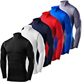 PowerLayer Men's & Boy's Compression Shirt Base Layer Top Long Sleeve Thermal - Crew Neck
