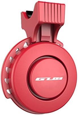 防水 電動 自転車サイクリング用 ミニベル usb充電式 口笛アラームホーン レッド