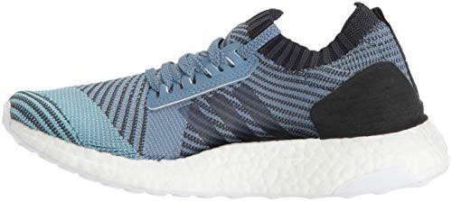 adidas Women's UltraBOOST Parley Running Shoe, Carbon/Blue Spirit, 9 M US