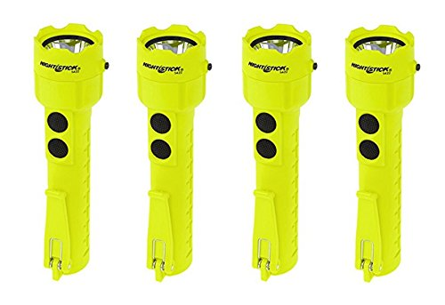Dual Light Flashlight - (4 Pack) Nightstick XPP-5422G 3 AA Intrinsically Safe Permissible Dual-Light Flashlight, Green