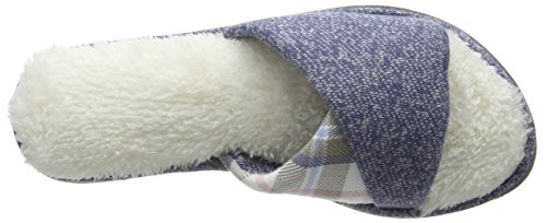 Dearfoams Women's Slide Open Back Slippers Blue (Indigo) 1E5nk