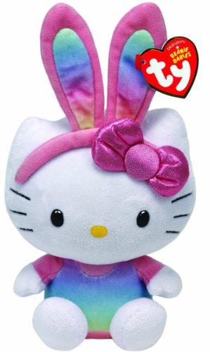 Ty Beanie Babies Hello Kitty Rainbow Bunny Ears Plush -