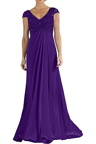Damen Etuikleider Dunkel Abendkleider Charmant Spitze Abschlussballkleider Royal Empire Lila Langes Blau mit ZOdqRd