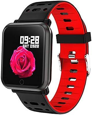 TDOR Smartwatch Reloj Inteligente, Android y iPhone, Llamadas y Whatsapp, Color Rojo