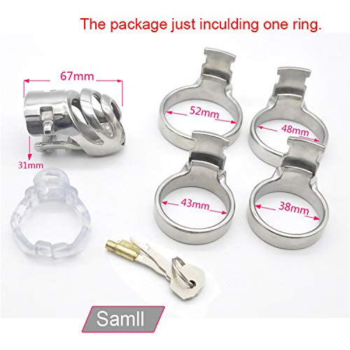SCGOLD Wonderful 67Mm31Mm Small Size Chastity Device Adult Cock Cage Sex Toy 316L Stainless Steel Chastity Belt Sex Toy 48mm by SCGOLD (Image #3)