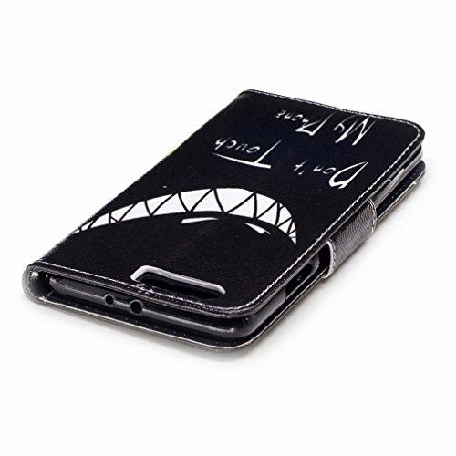 Yiizy Huawei P10 Plus Custodia Cover, Denti Sorridono Design Sottile Flip Portafoglio PU Pelle Cuoio Copertura Shell Case Slot Schede Cavalletto Stile Libro Bumper Protettivo Borsa