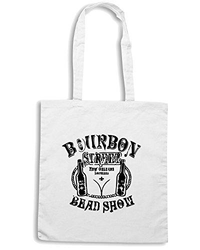T-Shirtshock - Bolsa para la compra FUN0036 2bourbonst1ltt 34 sleeve tshirt Blanco