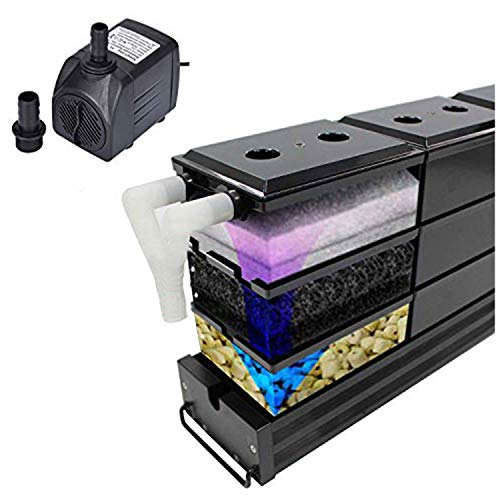 AE-SHOP KZKR Aquarium Filter Fish Tank Upper Trickle Box Filters System with Pump