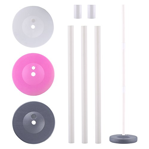 Balloon Column Base Stick Stand Stage Event Party Supplies Holder For Wedding Garden Party Decors Gray Color, Set of 1(Included PVC Stick+Connectors)