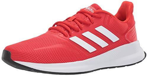 (adidas Men's Falcon, Active red/White/Black, 9.5 M US)