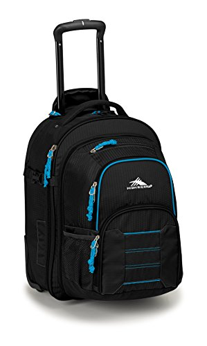 Access Rolling Backpack (High Sierra Ultimate Access 2.0 Carry On Wheeled Backpack, Black/Blue Print)