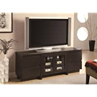 Coaster Contemporary Cappuccino Finished Entertainment Center Tv Stand