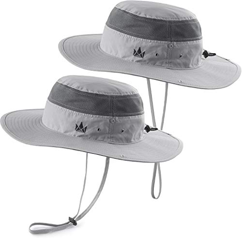 52dd74eec93c4f The Friendly Swede Sun Hats 2-Pack - Safari Hat for Men Women and Children,  Outdoor Boonie Hat, for Camping, Fishing, Summer, Gardening