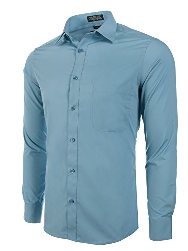 Marquis Slim Fit Dress Shirt - Blue Steel,Small 14-14.5 Neck 32/33 Sleeve -