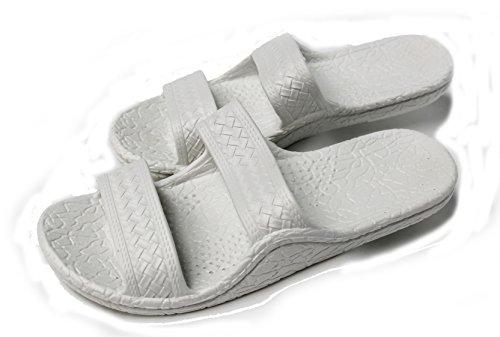 Kali Footwear Women's Jesus Hawaii Open Toe Double Strap Hawaiian Sandals Simple White 10 ()