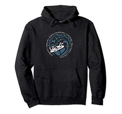 Santa Barbara Body Board Hoodie Top For Boogie Boarding Fans ()